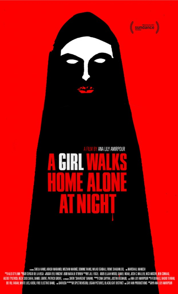 girl walks home alone at night POSTER