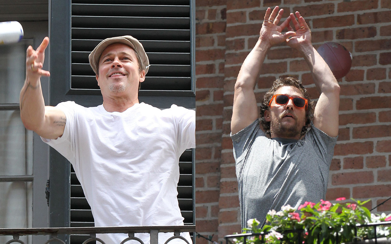 Brad-Pitt-and-Matthew-McConaughey-throwing-new-orleans-ctr