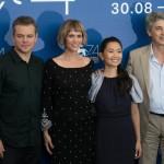 VENICE, ITALY - AUGUST 30: (L-R) Matt Damon, Kristen Wiig, Hong