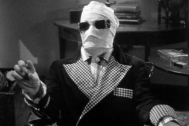 The Invisible Man (1933) Directed by James Whale Shown: Claude Rains (as The Invisible One, aka Jack Griffin)